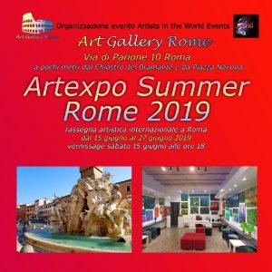 Artexpo Summer Rome 2019 flyer fronte_r